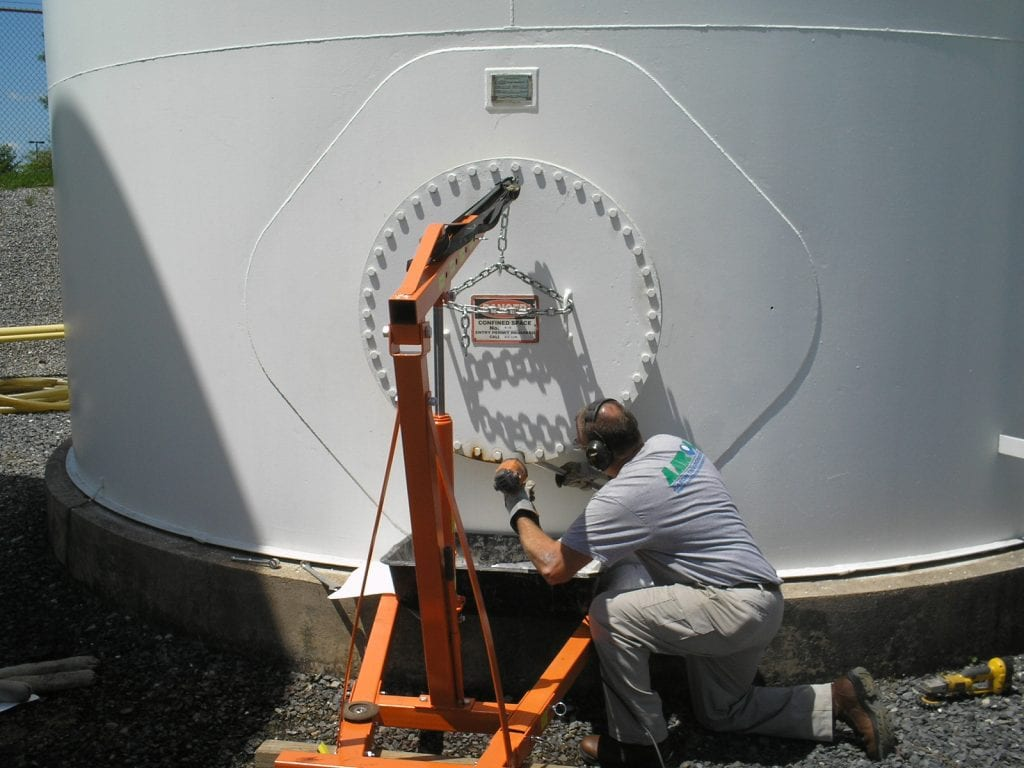 Manhole replacement on fuel storage tank | Aaron Environmental Services Plantsville CT